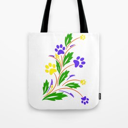 DOG PAW ART Tote Bag