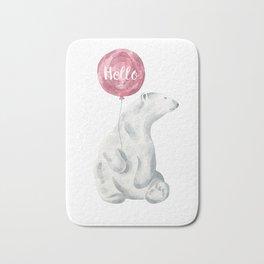 Polar Bear Greetings Bath Mat