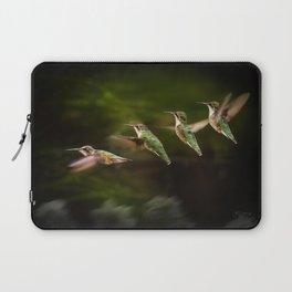 Humming Bird in Flight Laptop Sleeve