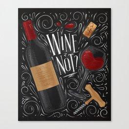 Wine not black Canvas Print