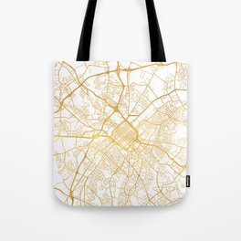 CHARLOTTE NORTH CAROLINA CITY STREET MAP ART Tote Bag