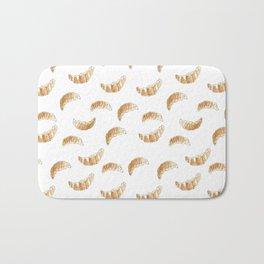 Pattern design with croissants Bath Mat
