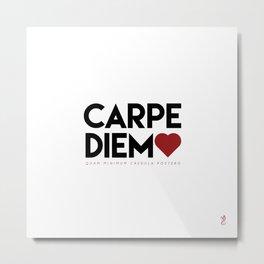 Carpe Diem (red) Metal Print