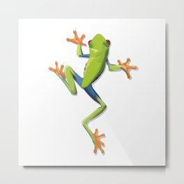 Greenery tree-frog Metal Print