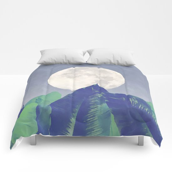 Vintage Moon Dance #society6 Comforters