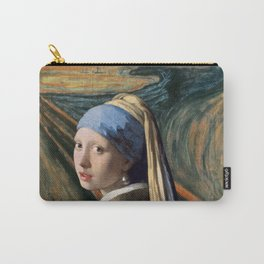 The Scream of Pearl Earring Girl Carry-All Pouch