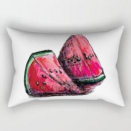 red watermelon Rectangular Pillow