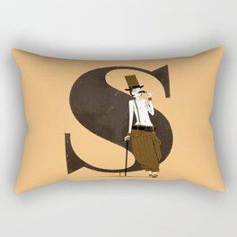Simone & Bodoni Rectangular Pillow
