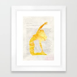 Yoga Teacher Framed Art Print