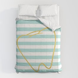 Aqua Stripes with Gold Tooth Comforters