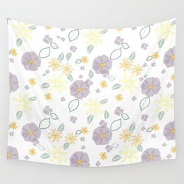 Lavender and Yellow Floral Wall Tapestry