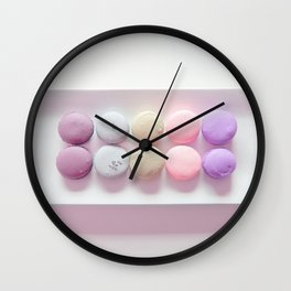 Macaroons Pink Peach Wall Clock