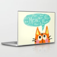 mew Laptop & iPad Skins featuring mew. by TangerineCafé