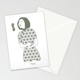 Cheongsam illustration angry Stationery Cards