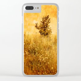 Old Picture of Landscape Clear iPhone Case
