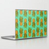 pineapples Laptop & iPad Skins featuring Pineapples by Stephanie Keir