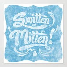 Smitten with the Mitten (Blue Version) Canvas Print