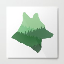 Wolf Mountains Metal Print