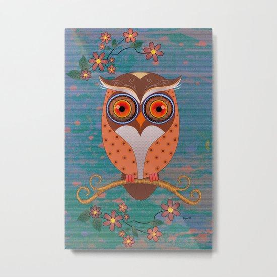 Summer Owl Metal Print