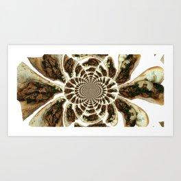 Roast Pork and Rabe Vortex Art Print