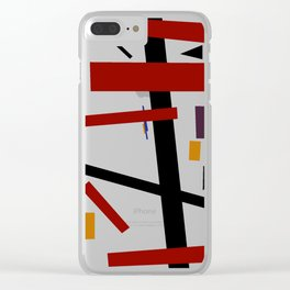 Geometric Abstract Malevic #15 Clear iPhone Case