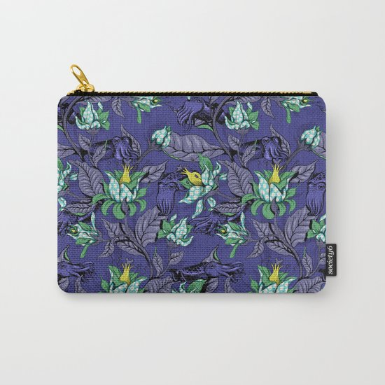 The Sea Garden - deep blue Carry-All Pouch