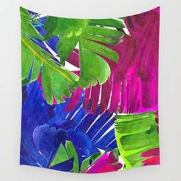 Colorful tropical leaves Wall Tapestry