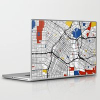 los angeles Laptop & iPad Skins featuring Los Angeles by Mondrian Maps