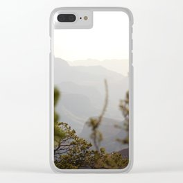 Canyon Waves Clear iPhone Case