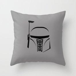 Boba Fett - Japanese kanji 'Dark' Throw Pillow
