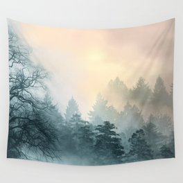Mystical Twilight Trees Wall Tapestry