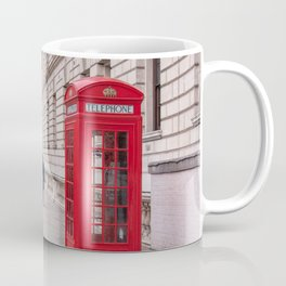 London Red Phone Booth Travel Photography Classic England Photo Coffee Mug