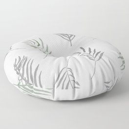 modern fronds Floor Pillow