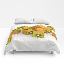 Kiwi Cubes Comforters