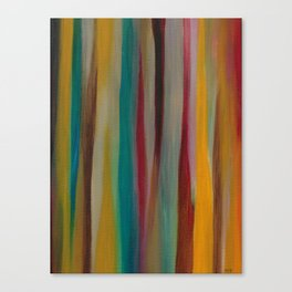 Colorful Acrylic Painting Paths Canvas Print