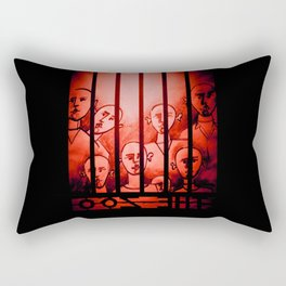 The Zoo [Red] Rectangular Pillow