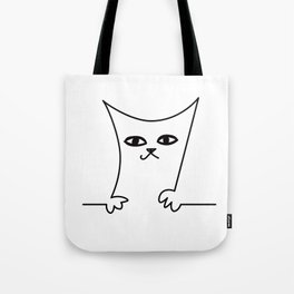 4 Cats on a Line #001, Cat 2, by clodyCats Tote Bag