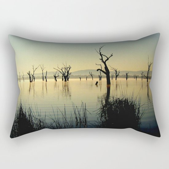 The Keepers of the Lake Rectangular Pillow