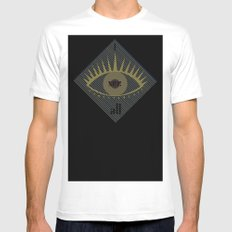 I see all Mens Fitted Tee MEDIUM White