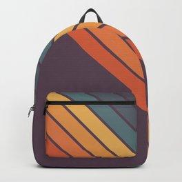 Classic 70s Style Retro Stripes - Dalana Backpack