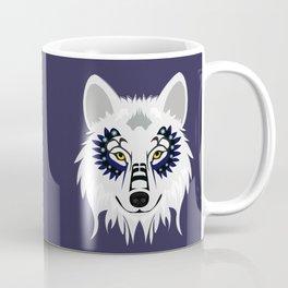 White Wolf - purple Coffee Mug
