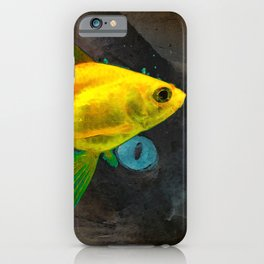 Wishful Thinking - Cat and Fish Art By Sharon Cummings iPhone Case