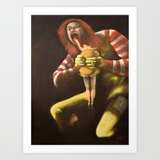 Big Mac Attack Art Print