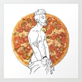 Pizza Boy Art Print