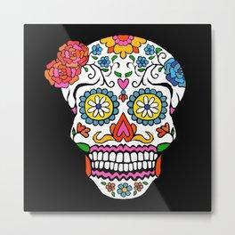 daisy sugar skull Metal Print