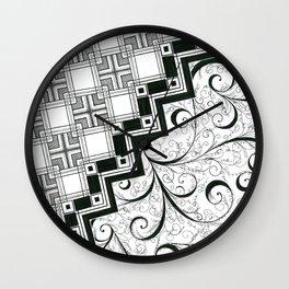 Right-Brain-Left-Brain Wall Clock