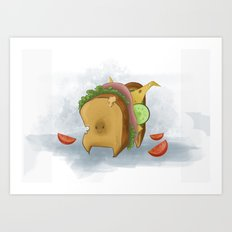 Sandwich Dog Art Print