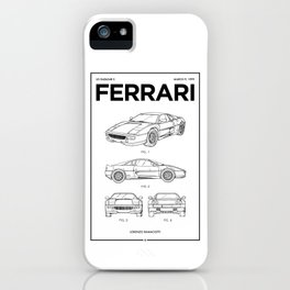 Sports Car Wall Art • Vintage Car Patent • Car Enthusiast Gift • Billionaire Gift Ideas iPhone Case