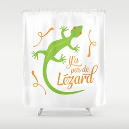 There's No Lizard Shower Curtain