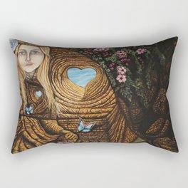 Regarde moi et l'amour suivra Rectangular Pillow